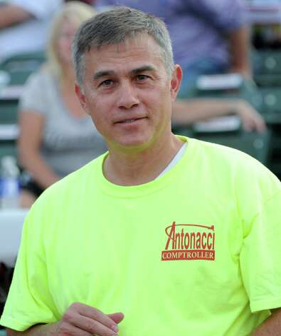 Republican candidate for state comptroller Bob Antonacci is seen campaigning at the ValleyCats game at Joe Bruno Stadium on Monday, Aug. 25, 2014 in Troy, N.Y. Antonacci is the Onondaga County Comptroller. (Lori Van Buren / Times Union) Photo: Lori Van Buren / 00028324A