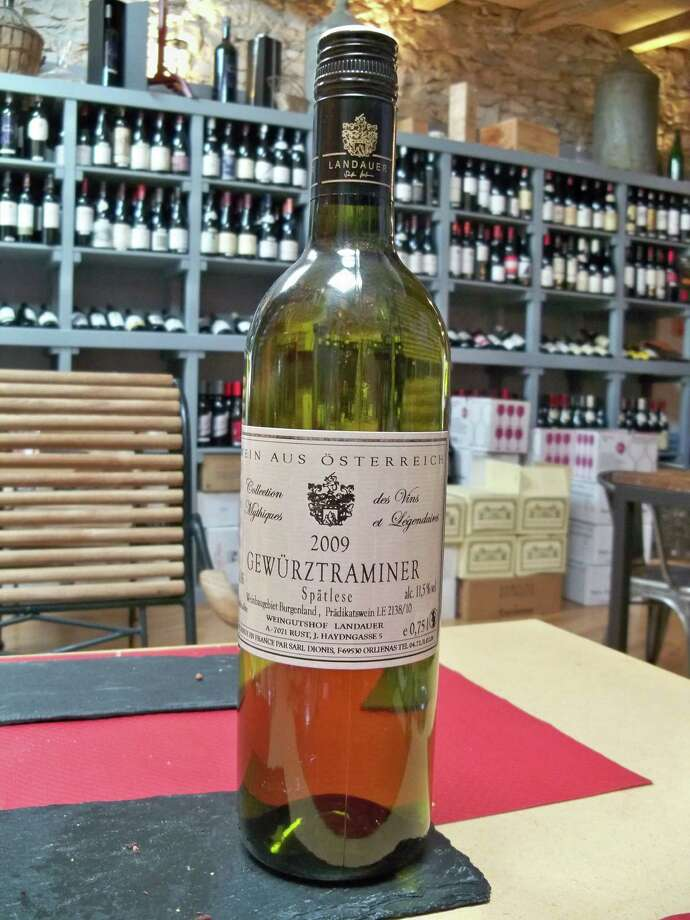 """Gewürtztraminer (guh-VURTS-trah-mee-ner):A white-wine grape that elicits crisp, spicy notes and ranges from dry to sweet. Audio: Click here to hear the term """"Gewürtztraminer."""" Photo: Wikimedia Commons"""
