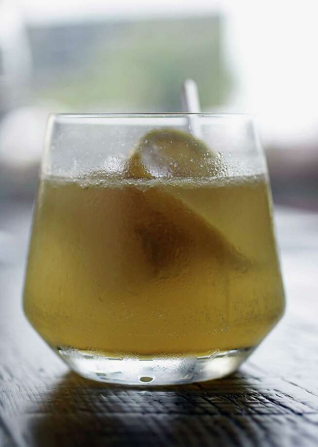 "St-Germain (san-zher-MAN): A French elderflower liqueur. Good luck convincing bartenders it's not pronounced Saint Jer-mane. Audio: Click here to hear the term ""St-Germain."" Photo: James Nielsen, Staff / © 2013  Houston Chronicle"
