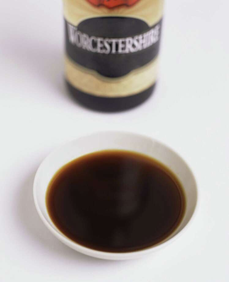 "Worcestershire (WOOS-ter-sheer): A condiment first bottled in Worcester, England. Audio: Click here to hear the term ""Worcestershire."" Photo: James Baigrie, Getty Images / (c) James Baigrie"