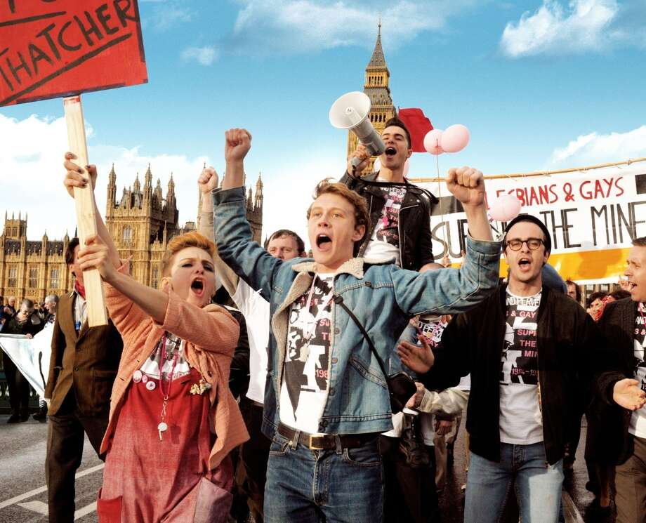 """A scene from """"Pride,"""" about UK gay and lesbian activists working to help miners during their lengthy strike of the National Union of Mineworkers in the summer of 1984. PRIDE Photo: CBS Films / ONLINE_YES"""