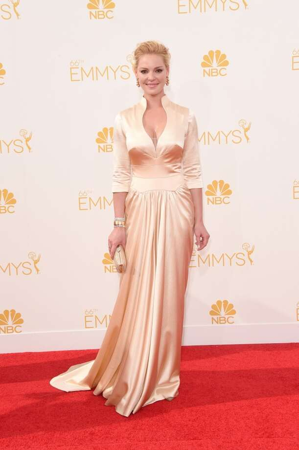 Actress Katherine Heigl attends the 66th Annual Primetime Emmy Awards held at Nokia Theatre L.A. Live on August 25, 2014 in Los Angeles, California. Photo: Jason Merritt, Getty Images