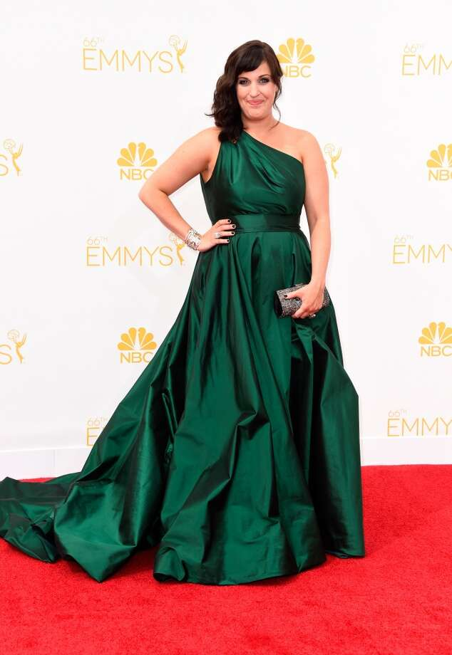 Hit:Allison Tolman, 2014. No doubt red carpet-goers were green with envy of this one-shoulder strapped gown.   Photo: Frazer Harrison, Getty Images