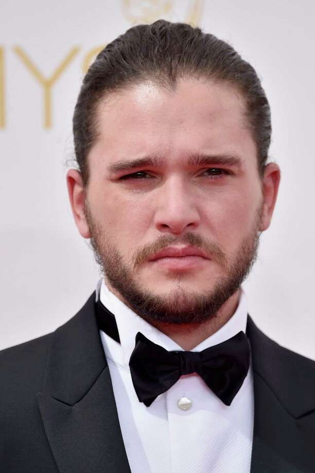 Kit Harington had a man bun and a scowl worthy of Jon Snow. Photo: Frazer Harrison, Staff / 2014 Getty Images
