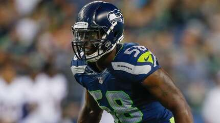 Seahawks linebacker Kevin Pierre-Louis defends against the San Diego Chargers at CenturyLink Field on August 15, 2014.