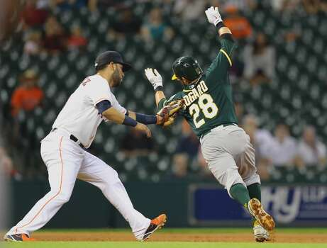 August 25: A's 8, Astros 2  The Astros' bullpen fell apart as the division-rival A's took the series opener with ease at Minute Maid Park.  Record: 55-77. Photo: Bob Levey, Getty Images