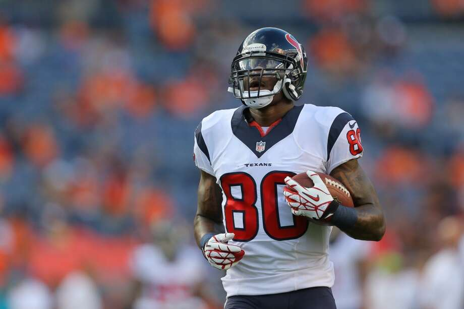Avoid  Andre Johnson, WR, Houston Texans  (ESPN ADP: 34.9; Yahoo! ADP: 39.9) Much as was the case with Arian Foster, there's just too much riding on new QB Ryan Fitzpatrick. And Andre's getting old (33), the Texans are installing a new offensive system, blah blah blah. Keep in mind that AJ has yet to haul in 10 TDs in a season, and as we all know TDs are the lifeblood of fantasy football. Another thing working against him, or one that will be in the early going, is the emergence of second-year wideout Deandre Hopkins, who as a first-round pick a year ago is loaded with potential. Hopkins could steal some early thunder from AJ while defenses key on the latter, and until Hopkins proves he's a viable threat, Johnson could be facing double-teams aplenty. It's a double-edged sword for Johnson, so, again, don't reach. Photo: Justin Edmonds, Getty Images