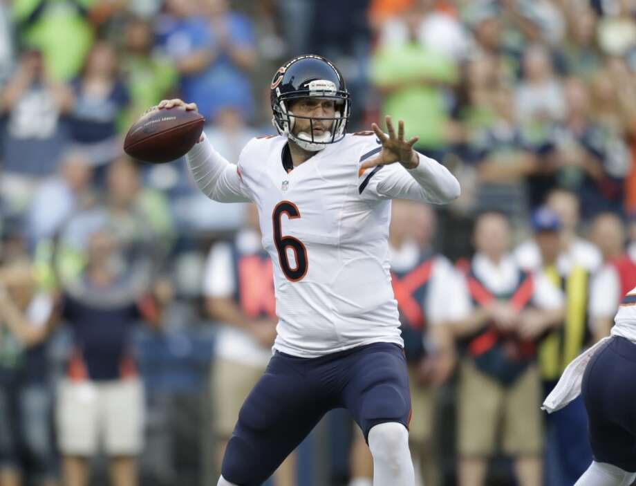 Target  Jay Cutler, QB, Chicago Bears  (ESPN ADP: 106.3; Yahoo! ADP: 97.3)  Cutler has a cannon - that has never been questioned - but with the emergence of Alshon Jeffery, the continued dominance by Brandon Marshall and Matt Forte catching balls out of the backfield, he is primed for a monster season in the Windy City. Photo: John Froschauer, Associated Press
