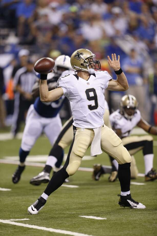 Target  Drew Brees, QB New Orleans Saints  (ESPN ADP: 12.0; Yahoo! ADP: 17.0)  The 2009 Super Bowl champion is still an elite option despite being around six-feet tall and 35 years old, Brandin Cooks is a nice addition to the receiving corps and Jimmy Graham is an absolute monster running routes out of various slots. Photo: Sam Riche, Associated Press