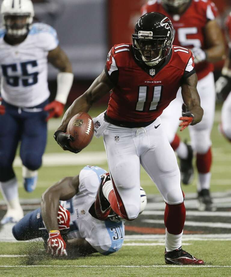 Target  Julio Jones, WR, Atlanta Falcons  (ESPN ADP: 21.9; Yahoo! ADP: 20.2)  A down-field threat and an able quarterback equal big point potential week in and week out for the 25-year-old Falcon receiver. Photo: John Bazemore, Associated Press