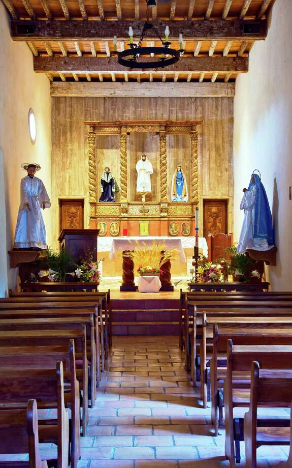 "The beautiful altar at Mission San Juan is featured in Al Rendon's ""Timeless Icons"" photography exhibition. Photo: Courtesy Of The Artist"