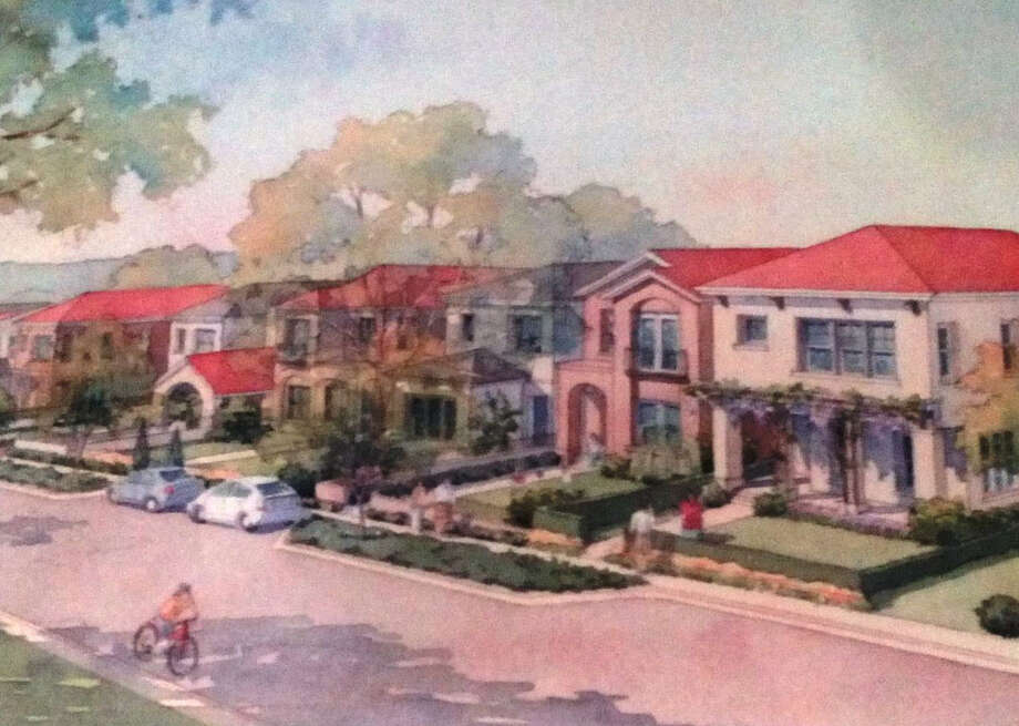 An  artist's recent rendering of PSW Real Estate's planned garden home development on East Olmos Drive. Photo: Courtesy Illustration