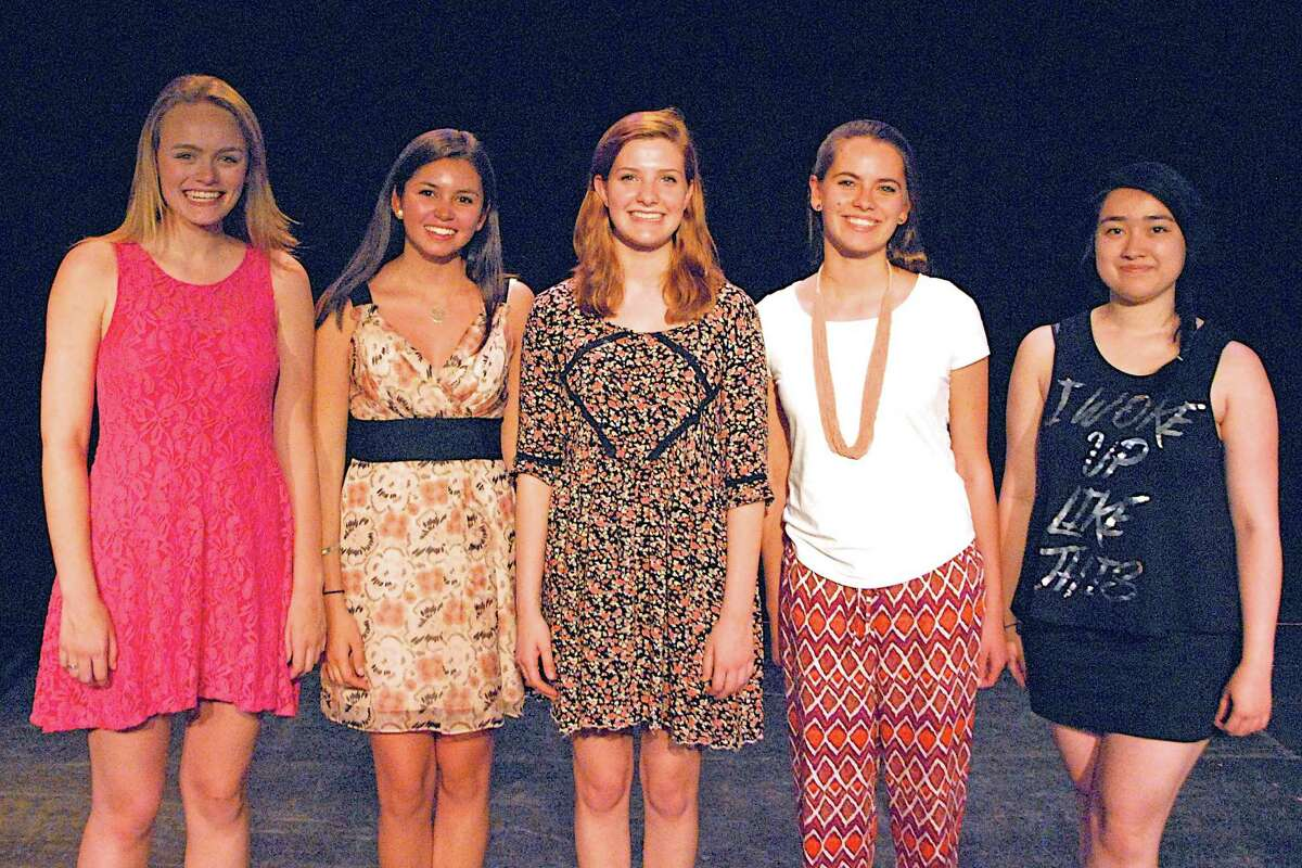 Among the students who participated in the Performing Arts Conservatory of New Canaan's spring concert were college-bound vocal performance students, from left, Emily Chalon, Isabel Lawrence, Rachel Guth, Elizabeth Walker and Lily Frye, all of whom are town residents.