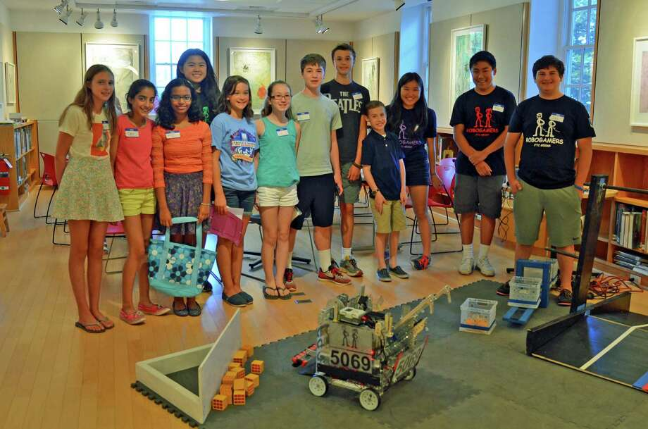 The eastern regional-based Robogamers Robotics Team recently brought to New Canaan Library its science, technology, engineering, art and math program. Photo: Contributed Photo, Contributed / New Canaan News Contributed