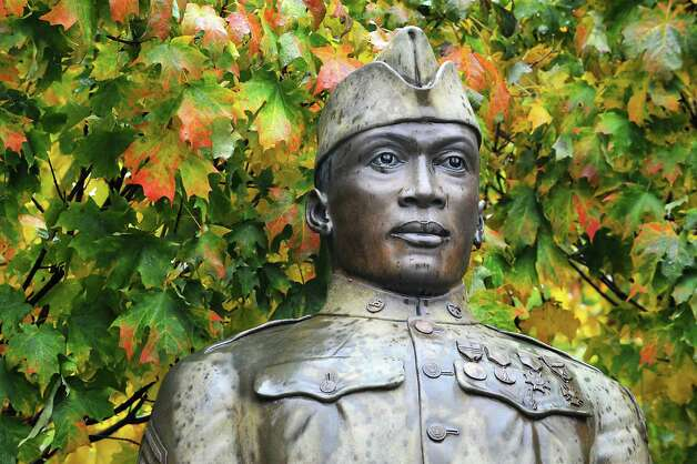 The Battle of Henry Johnson statue in Washington Park in Albany, N.Y. (Lori Van Buren / Times Union archive) Photo: Lori Van Buren / 00019541A