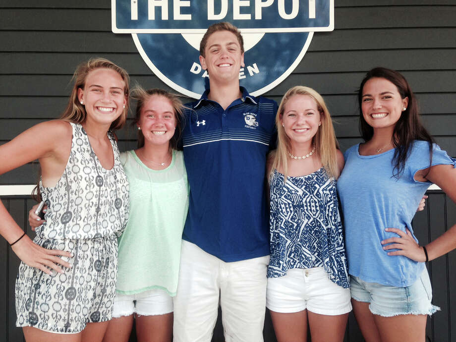 Members of the Depot's Student Governing Board look forward to another successful year. From left, Secretary Mary Brown, Media Representative Kallie Coughlin, Vice President Dylan Cunningham, Treasurer Kat Culliton and President Maddie Cush. Photo: Contributed Photo, Contributed / Darien News Contributed