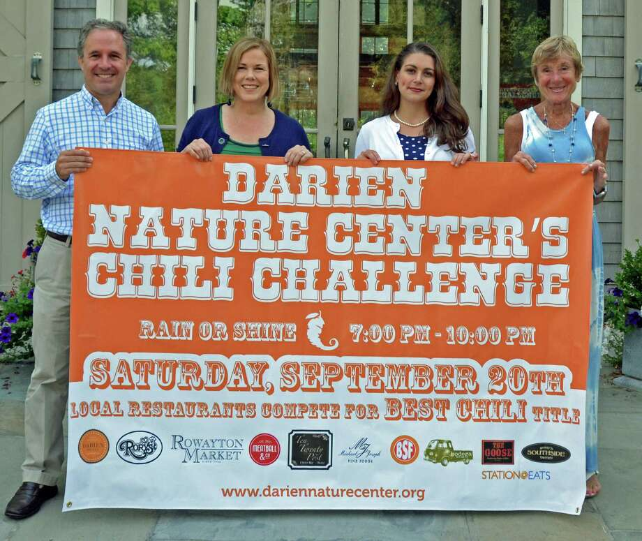 The judges for the second annual Darien Nature Center Chili Challenge will be, from left, David Genovese, Pam Anderson, Megan Palmer Rivera and Melanie Barnard. Photo: Contributed Photo, Contributed / Darien News