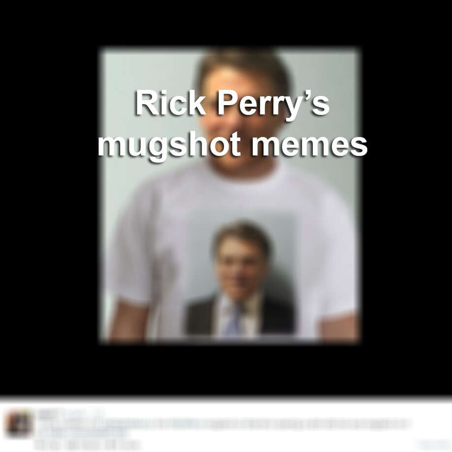 Gov. Rick Perry's mugshot made the rounds on the internet after he was booked on two felony charges in the Travis County Jail on August 15, 2014. 