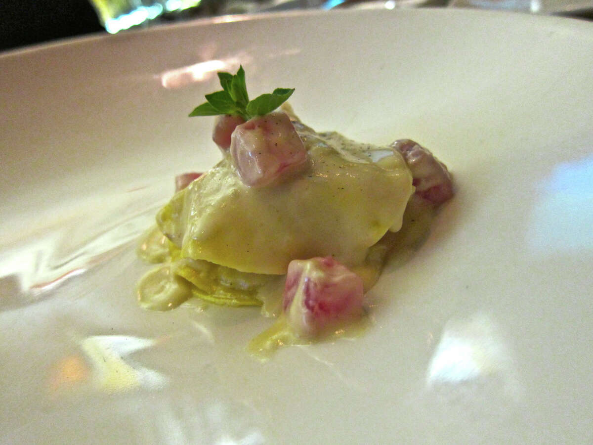 Grant Gordon pasta dish with tuna at Tony's.