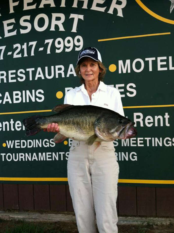 Judy Cagle with her 14.66 lber caught on Toledo Bend. Courtesy Photo