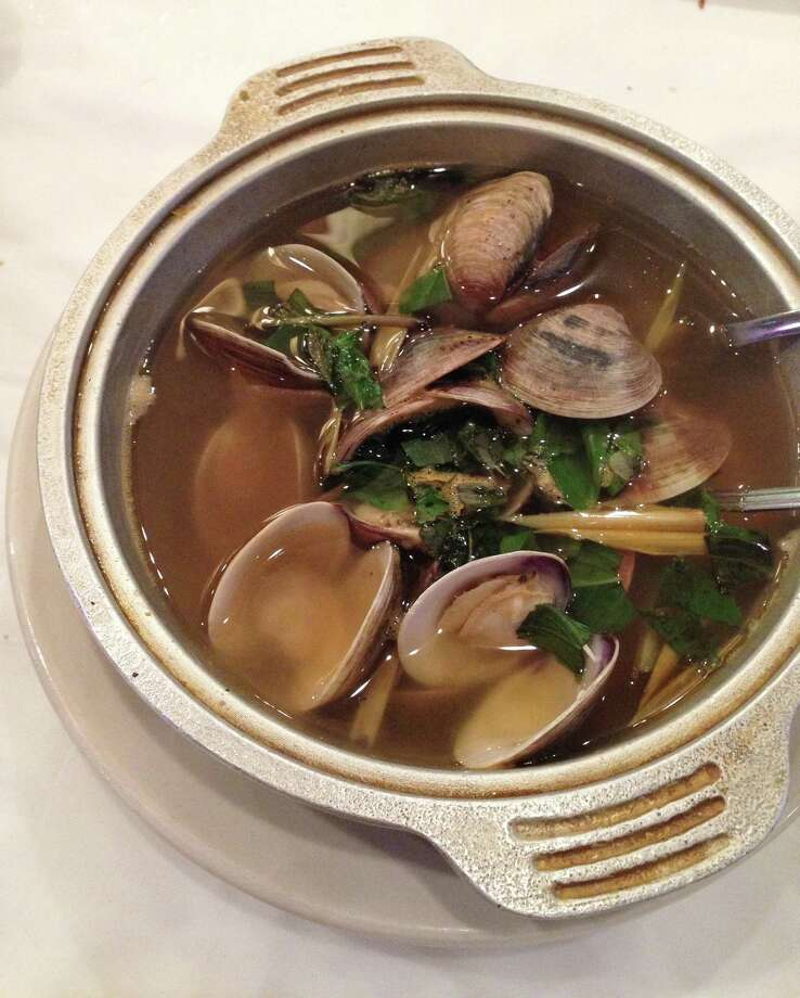 Clams in lemongrass broth at Cajun Kitchen. Photo: Liz Fenton