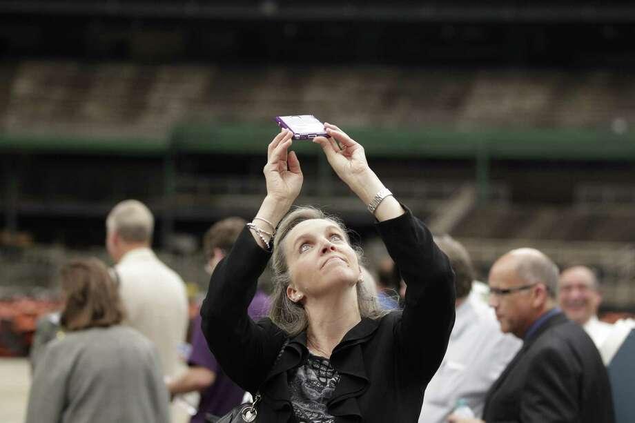Stephanie Ann Jones with the Houston Preservation Society Photo: Johnny Hanson / Houston Chronicle
