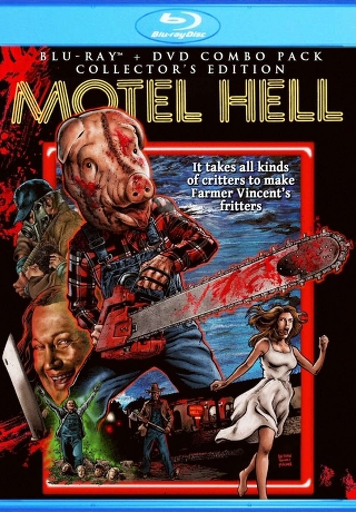 """DVD/Blu-ray cover of """"Motel Hell: Collector's Edition."""""""