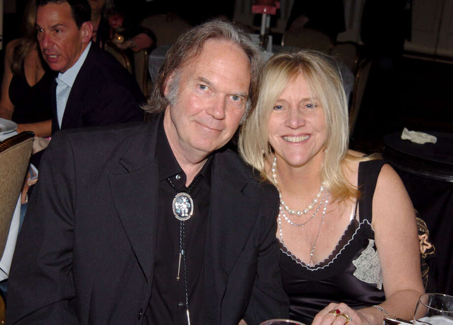 Neil Young and Pegi Young during 20th Annual Rock and Roll Hall of Fame Induction Ceremony - Dinner at Waldorf Astoria in New York City, New York, United States. Photo: WireImage / WireImage