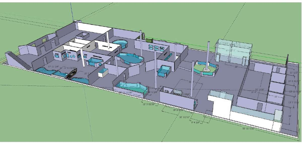 This 3D rendering shows the floor plan for the San Antonio Aquarium in Leon Valley, which will open December 2014.