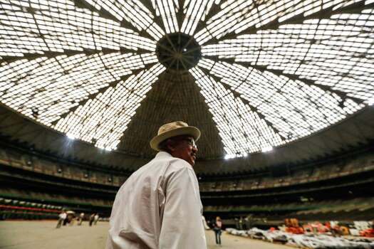 "Harris County Judge Ed Emmett on Tuesday proposed turning the Astrodome into ""the world's largest indoor park"" and recreation area. Photo: Johnny Hanson / Houston Chronicle"