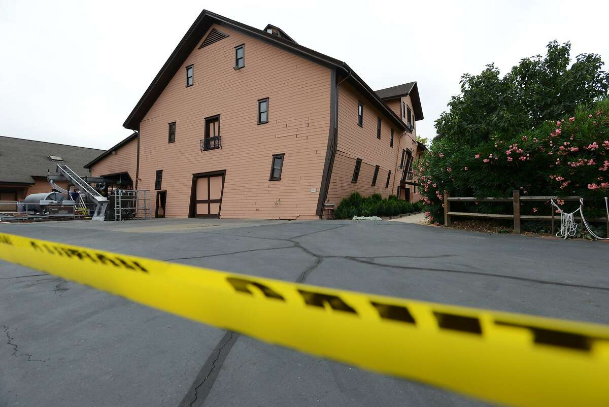 The Trefethen Family Vineyards winery building in Napa which suffered sever damage when the second floor shifted about four feet during the Sunday morning 6.0 magnitude earthquake. Built in 1886 the building was currently used as the winery's tasting room. August 26, 2014.