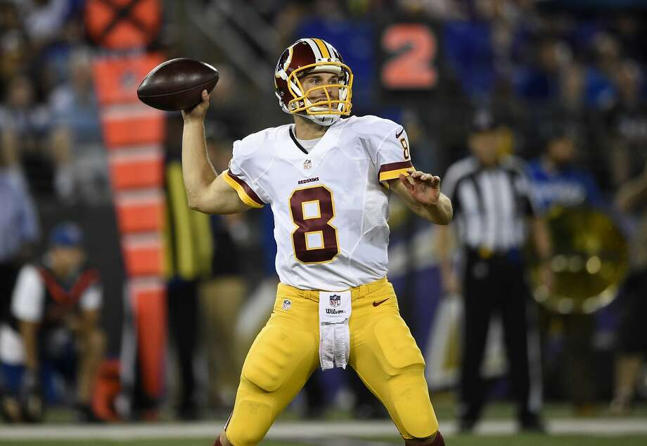 Kirk Cousins, who has outplayed Robert Griffin III in the preseason, remains the backup QB in Washington. Photo: Nick Wass, Associated Press
