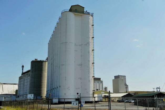 A view of the Ardent Mills grain elevator, foreground, and the Cargill elevator, background right, at the Port of Albany on Tuesday, Aug. 26, 2014, in Albany, N.Y.  (Paul Buckowski / Times Union) Photo: Paul Buckowski / 00028346A