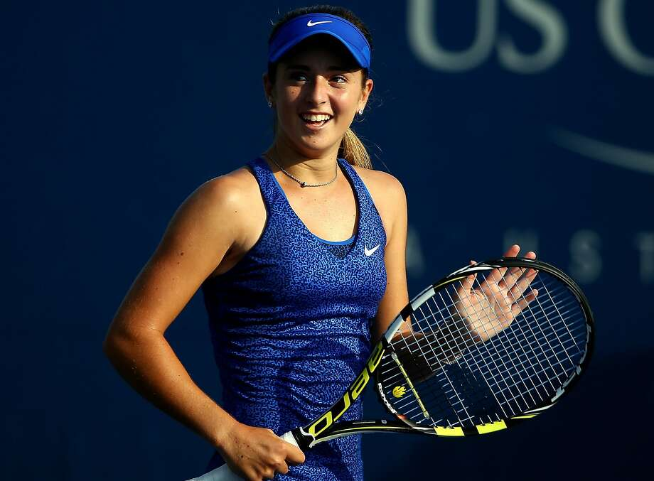 NEW YORK, NY - AUGUST 26:  Catherine Bellis of the United States celebrates after defeating Dominika Cibulkova of Slovakia during their women's singles first round match on Day Two of the 2014 US Open at the USTA Billie Jean King National Tennis Center on August 26, 2014  in the Flushing neighborhood of the Queens borough of New York City.  (Photo by Streeter Lecka/Getty Images) Photo: Streeter Lecka, Getty Images