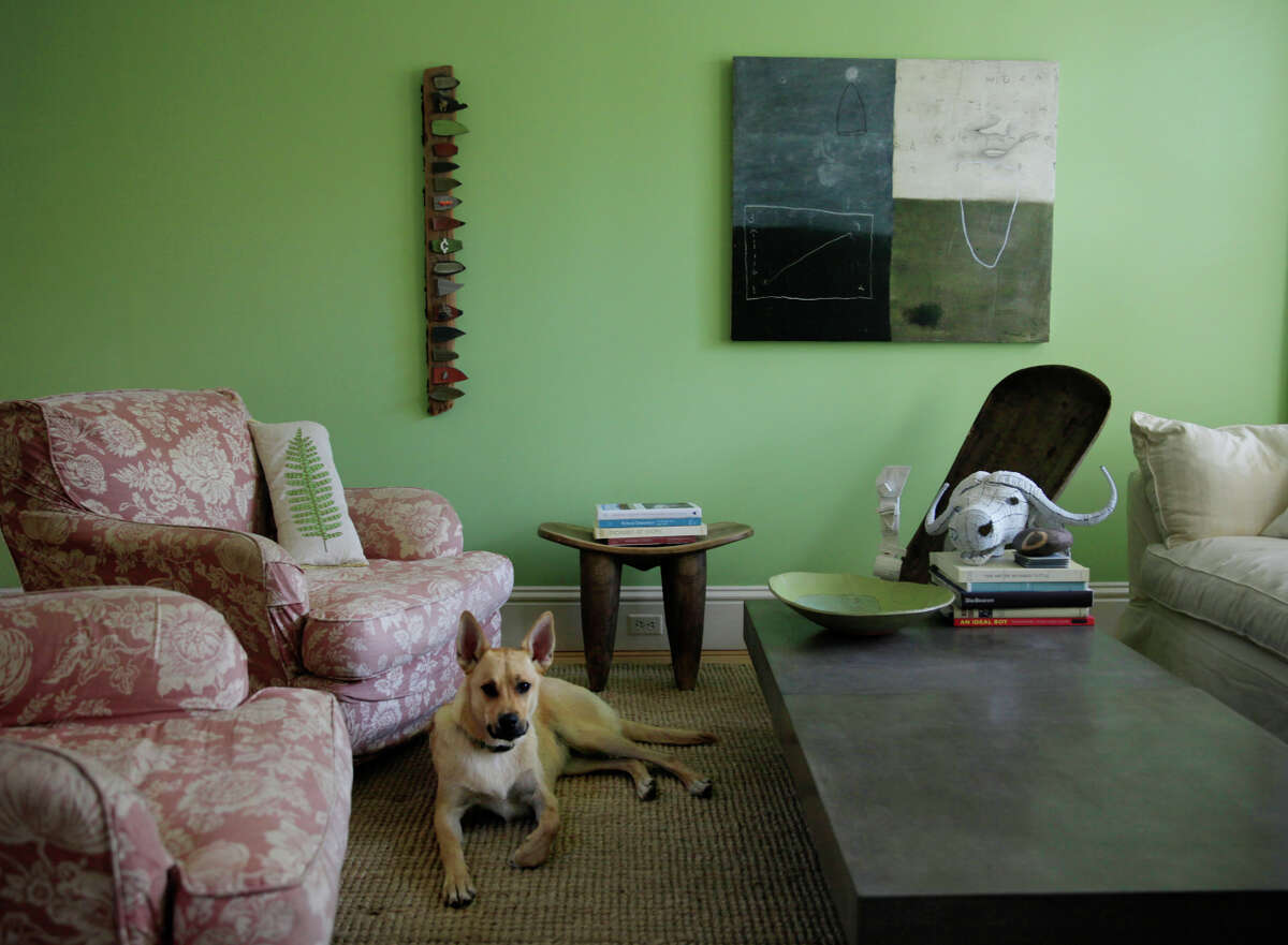 Neimeth has a fondness for bright colors, especially green, which is used in six shades throughout the home.