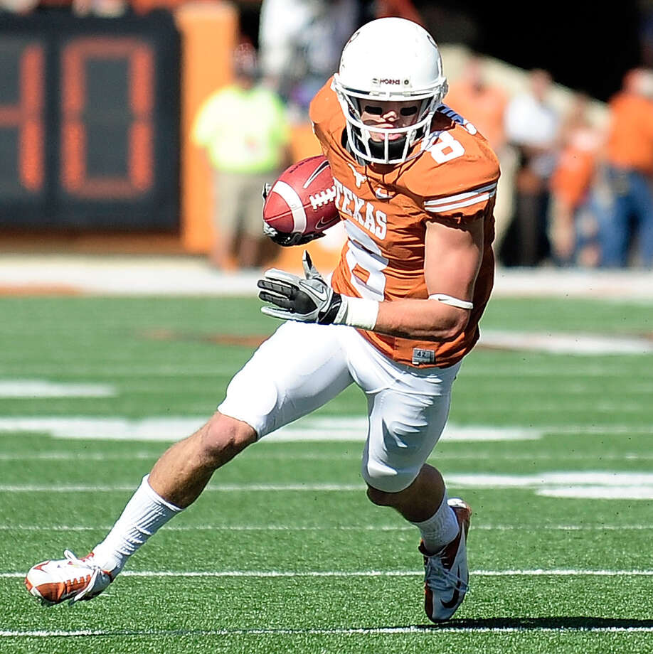 Senior Jaxon Shipley, who had been dealing with a hamstring injury, provides some needed depth to UT's receiving corps. Photo: Stacy Revere / Getty Images / 2013 Stacy Revere