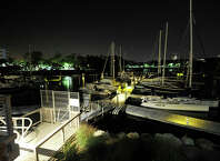 Emergency crews responded to Yacht Haven on Harbor Drive in Stamford, Conn., for a man that was injured by a propeller while wake boarding in Long Island Sound on Tuesday, Aug. 26, 2014. Police are investigating the incident.