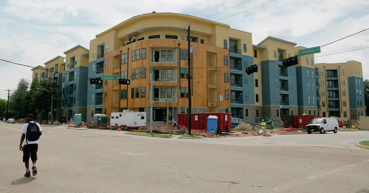 The Vue at MacGregor, a multifamily complex marketed toward University of Houston students, was slated to open in fall 2014 in time for the start of school. ( James Nielsen / Houston Chronicle )