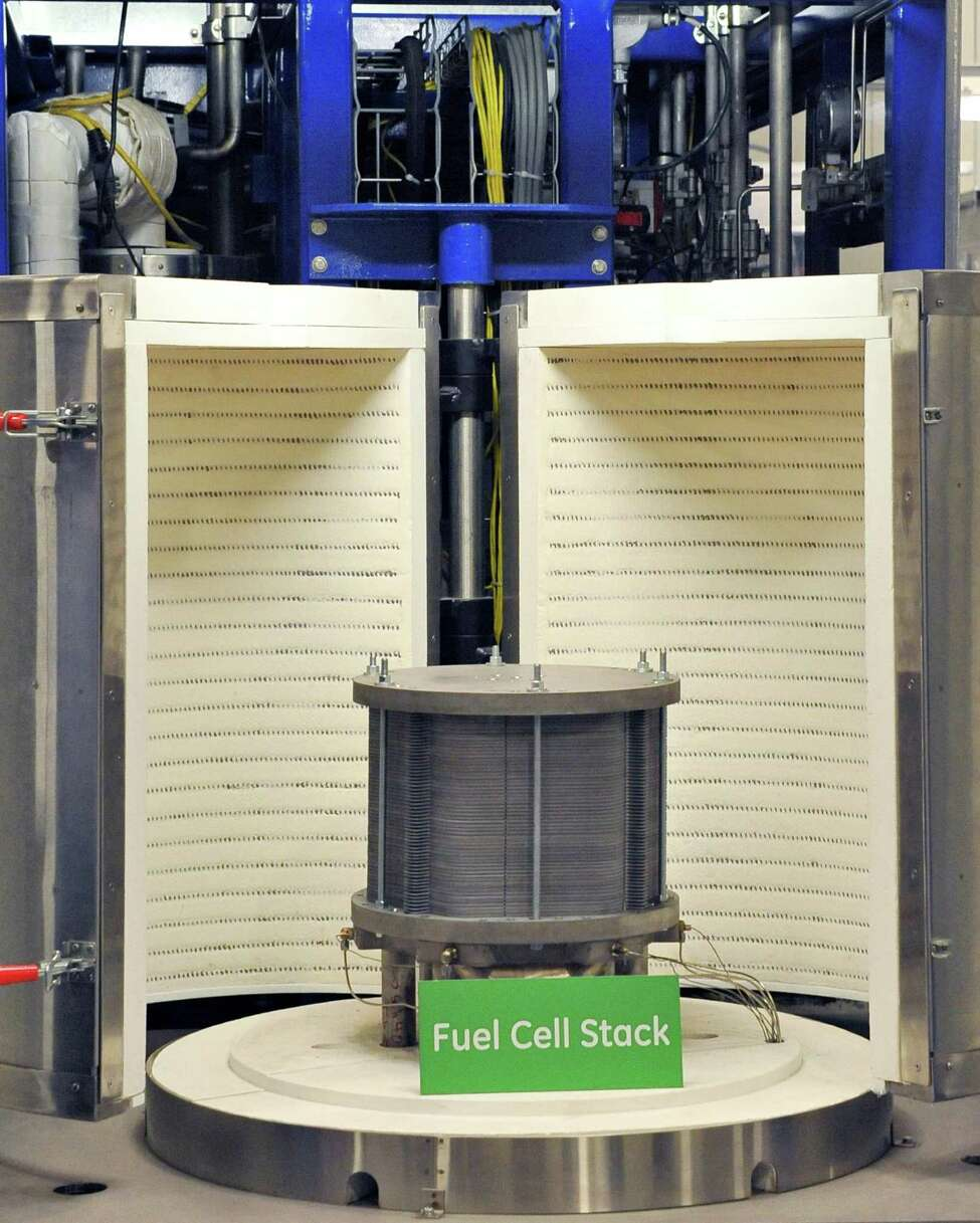 A fuel cell stack at GE's new fuel cell facility Tuesday August 26, 2014, in Malta, NY. (John Carl D'Annibale / Times Union)
