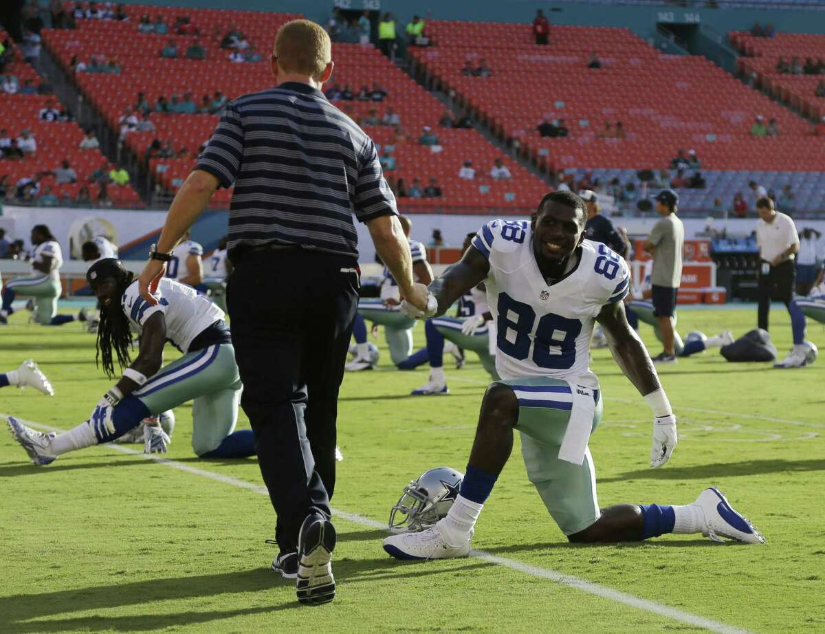 Aside from some recent on-field antics, Cowboys wide receiver Dez Bryant - shaking hands with coach Jason Garrett on Saturday - has shown significant growth since his early days in Dallas.