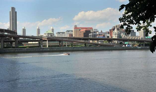 View of the City of Albany showing I-787 from Rensselaer on Tuesday, Aug. 26, 2014 in Albany, N.Y. The Capital District Transportation Committee (CDTC) is undertaking a study on what to do with I-787 in downtown Albany to make the river more accessible. (Lori Van Buren / Times Union) Photo: Lori Van Buren / 00028345A