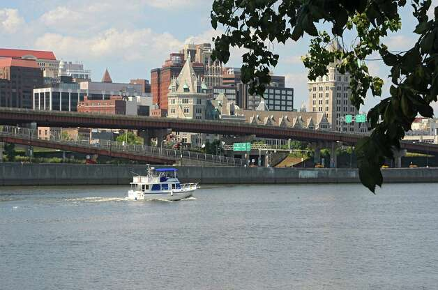 View of the City of Albany showing I-787 from Rensselaer Tuesday, Aug. 26, 2014, in Albany, N.Y. The Capital District Transportation Committee (CDTC) is undertaking a study on what to do with I-787 in downtown Albany to make the river more accessible. (Lori Van Buren / Times Union) Photo: Lori Van Buren / 00028345A
