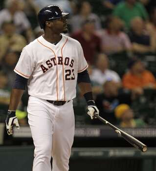 August 26: Astros 4, A's 2  Chris Carter blasted a go-ahead, three-run homer in the 8th inning to complete the Astros' comeback on the A's.  Record: 56-77. Photo: Melissa Phillip, Houston Chronicle