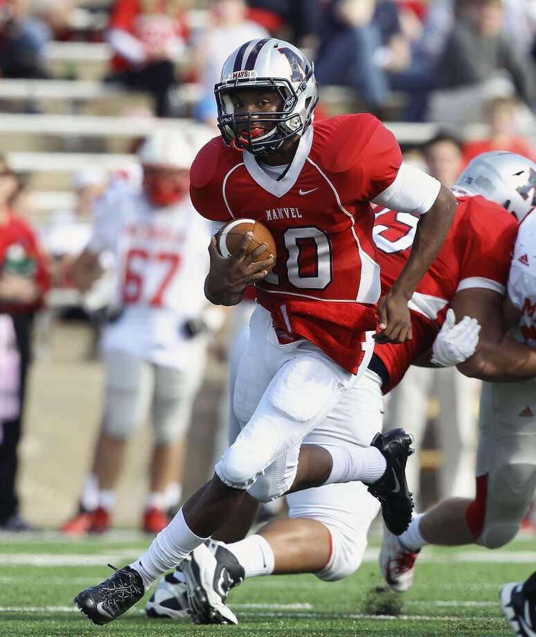 First-team offense  QB D'Eriq King, Jr., Manvel  The honorable mention all-state pick last year accounted for nearly 4,000 yards and 53 touchdowns. Photo: Bob Levey, Special To The Chronicle