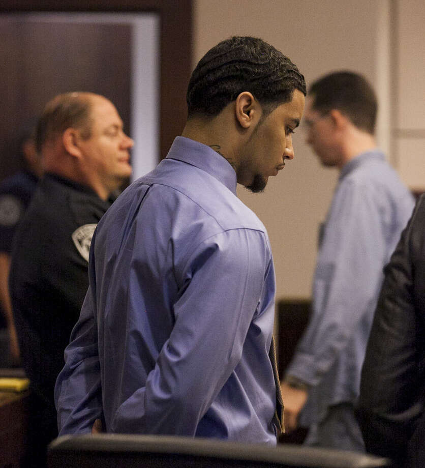 Prosecutors charged Darius Goodwin, 22, with murder in the shooting of his father, Daniel Goodwin, 41, at a family barbecue in 2012. His lawyer says it's a case of self-defense. Testimony is to resume today. Photo: Julysa Sosa / For The San Antonio Express-News / Julysa Sosa For the San Antonio Express-News