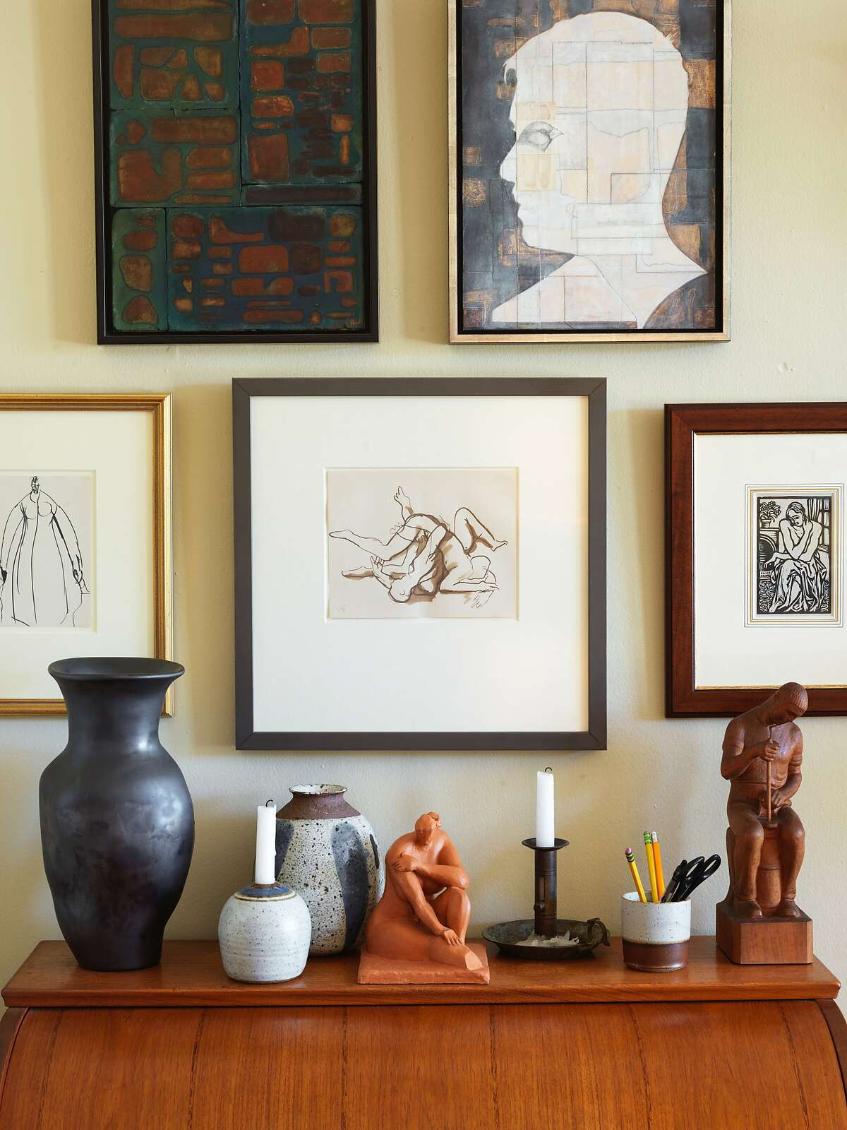 Artistic touches fill every corner of the 1,000-square-foot apartment near Mission Dolores.