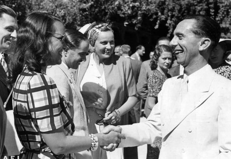 It's hard to remember sometimes that when the festival started, Italy was a Fascist country.  That didn't come much into play until 1938, when Joseph Goebbels became an annual fixture.  Here he shakes hands with the Italian actress Elli Parvo at the presence of the Italian Minister of Culture Alessandro Pavolini during the 9th Venice International Film Festival. Venice, 2nd September 1941. Photo: Mondadori, Mondadori Via Getty Images