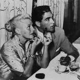 Ginger Rogers And Jacques Bergerac Dining In Venice Film Festival On August 30Th 1952  (Photo by Keystone-France/Gamma-Keystone via Getty Images)