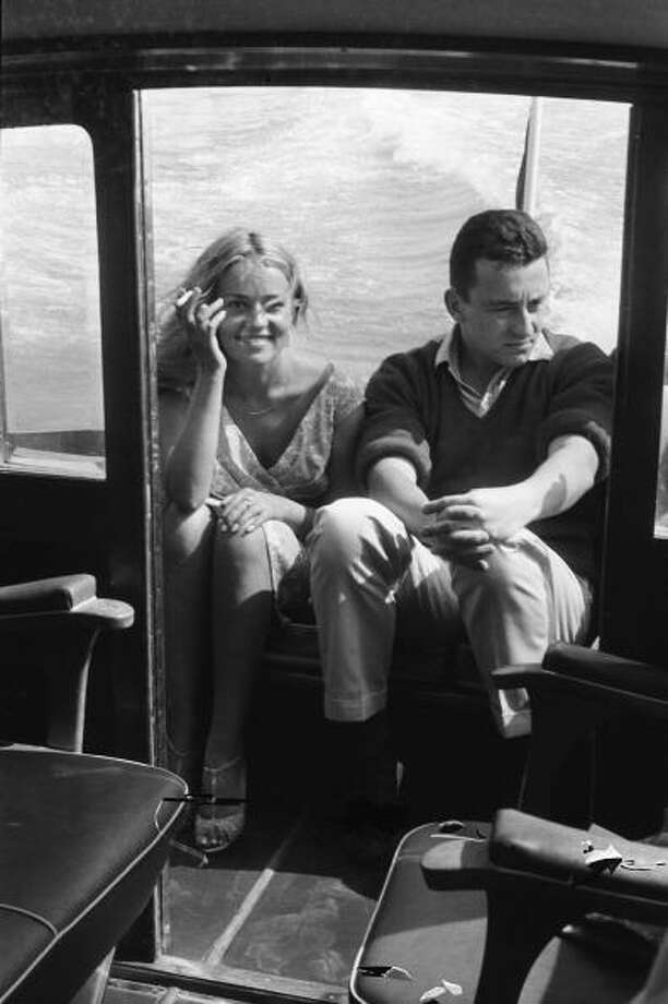 Jeanne Moreau. looking young and adorable, and Louis Malle. 1958. Photo: MENAGER Georges, Paris Match Via Getty Images / Paris Match Archive