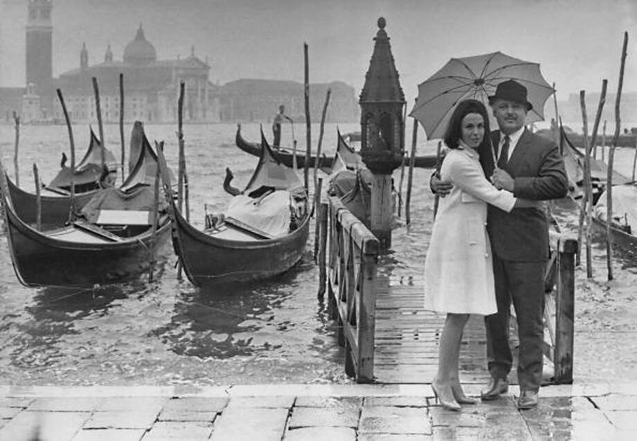 British actress Claire Bloom and her husband American actor Rod Steiger  in Venice, Italy for the film festival in September 1963. (Photo by Daily Express/Archive Photos/Getty Images) Photo: Express, Getty Images